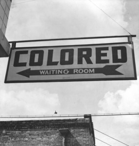 Colored sign