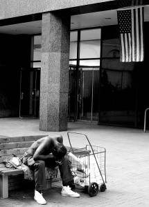 Homeless_-_American_Flag