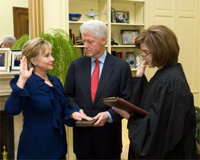 clinton swearing in