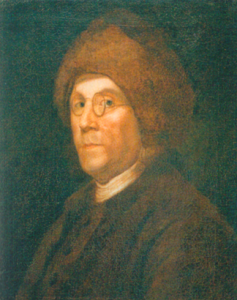 Ben Franklin in a fur hat